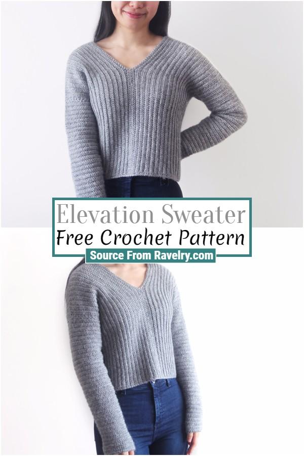 Free Crochet Elevation Sweater