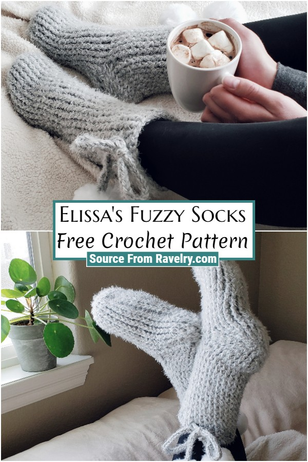 Free Crochet Elissa's Fuzzy Socks