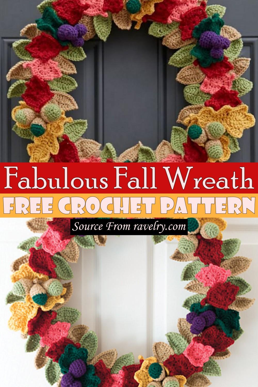 Free Crochet Fabulous Fall Wreath Pattern