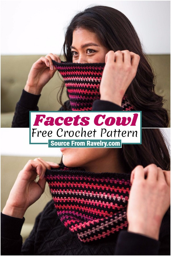 Free Crochet Facets Cowl