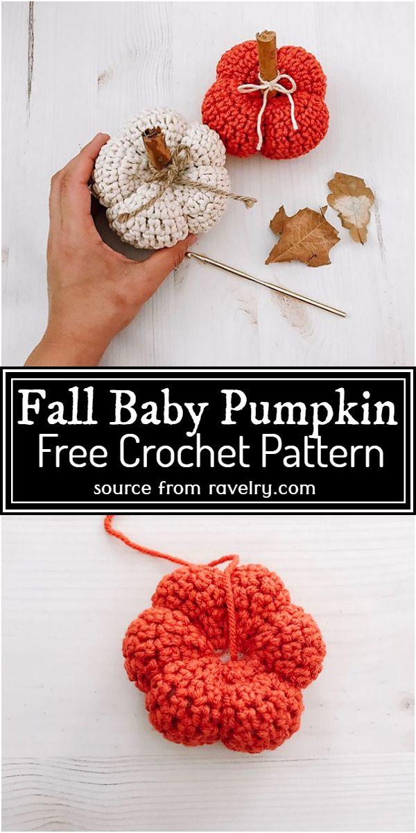 Free Crochet Fall Baby Pumpkin Pattern