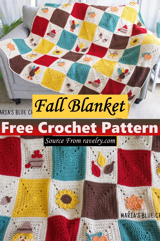 Free Crochet Fall Blanket Pattern