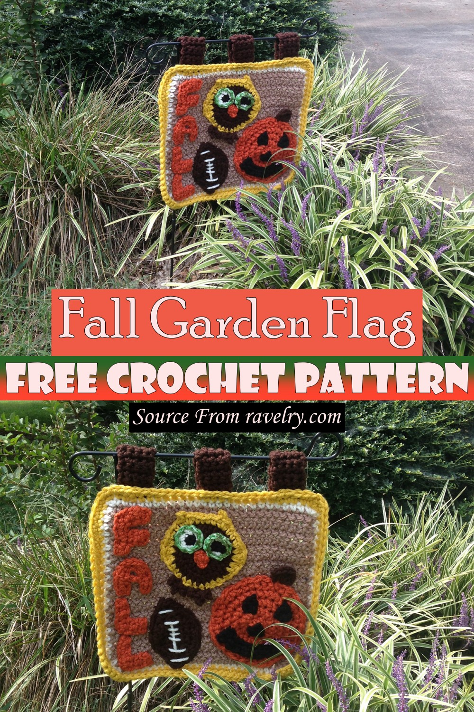Free Crochet Fall Garden Flag Pattern