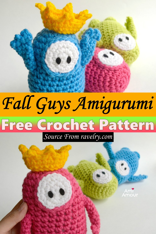Free Crochet Fall Guys Amigurumi Pattern