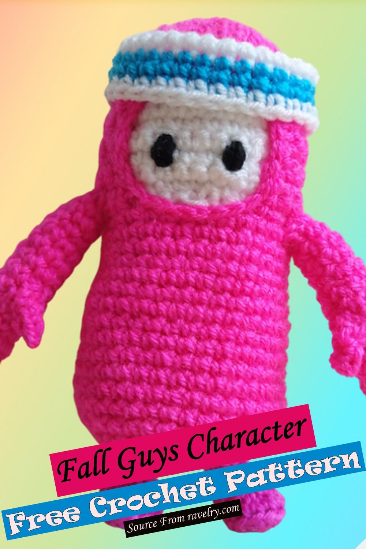 Free Crochet Fall Guys Character Pattern