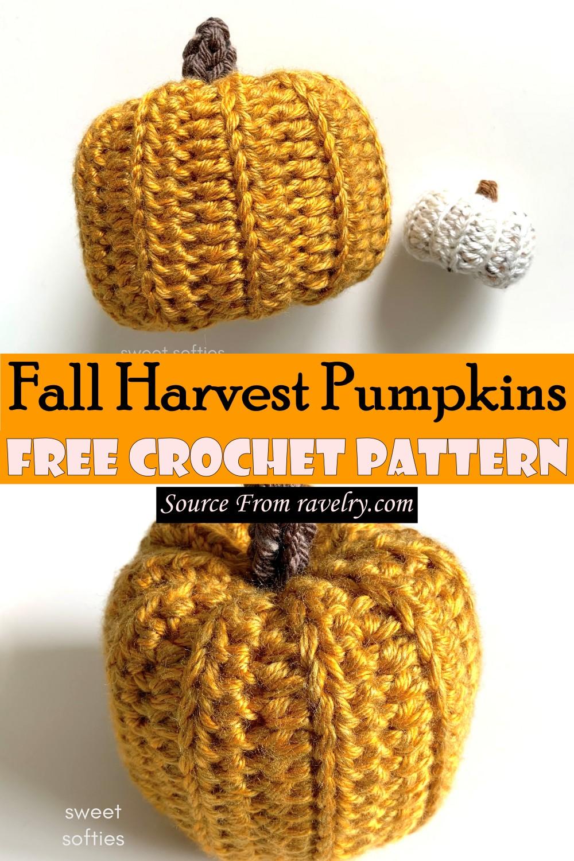 Free Crochet Fall Harvest Pumpkins Pattern