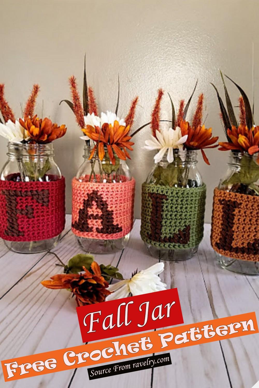 Free Crochet Fall Jars Pattern