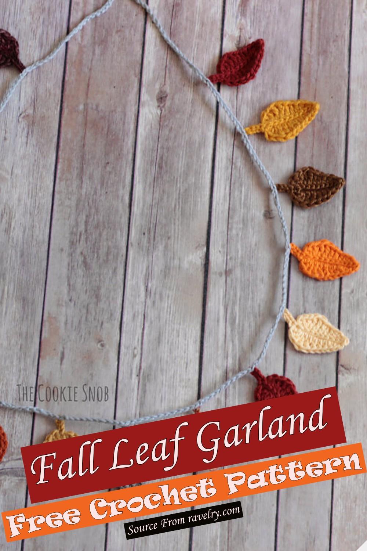 Free Crochet Fall Leaf Garland Pattern