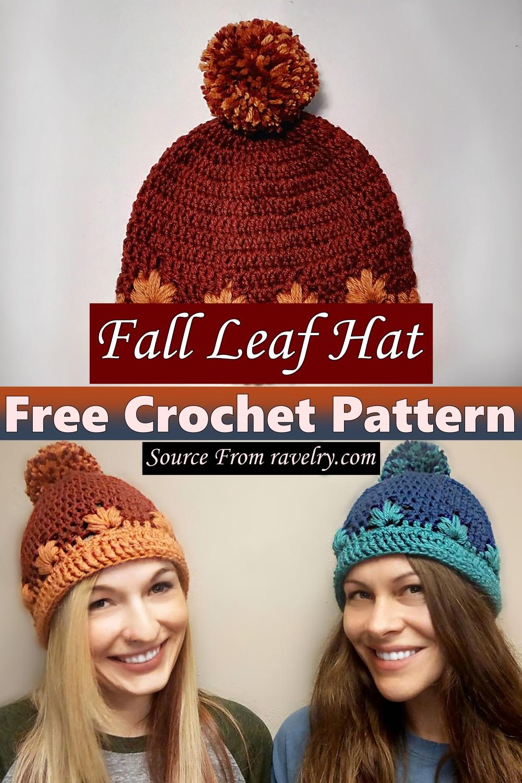 Free Crochet Fall Leaf Hat Pattern