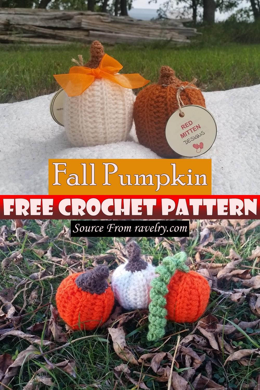 Free Crochet Fall Pumpkin Pattern