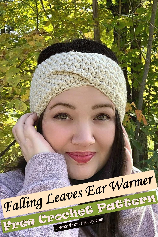 Free Crochet Falling Leaves Ear Warmer Pattern