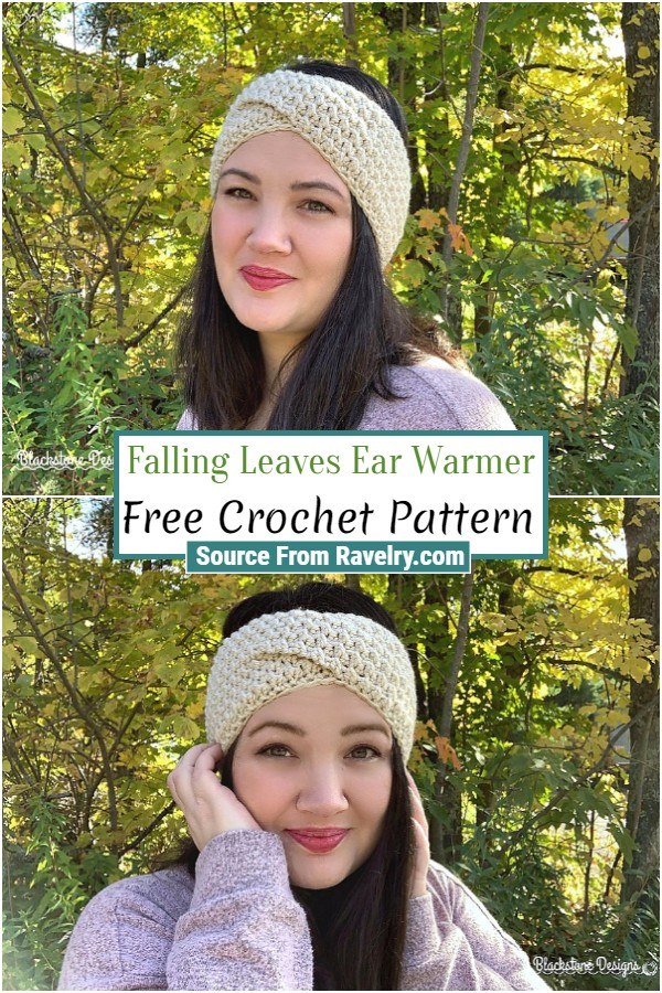 Free Crochet Falling Leaves Ear Warmer