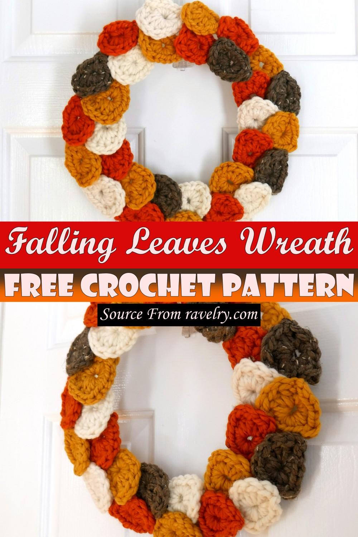 Free Crochet Falling Leaves Wreath Pattern