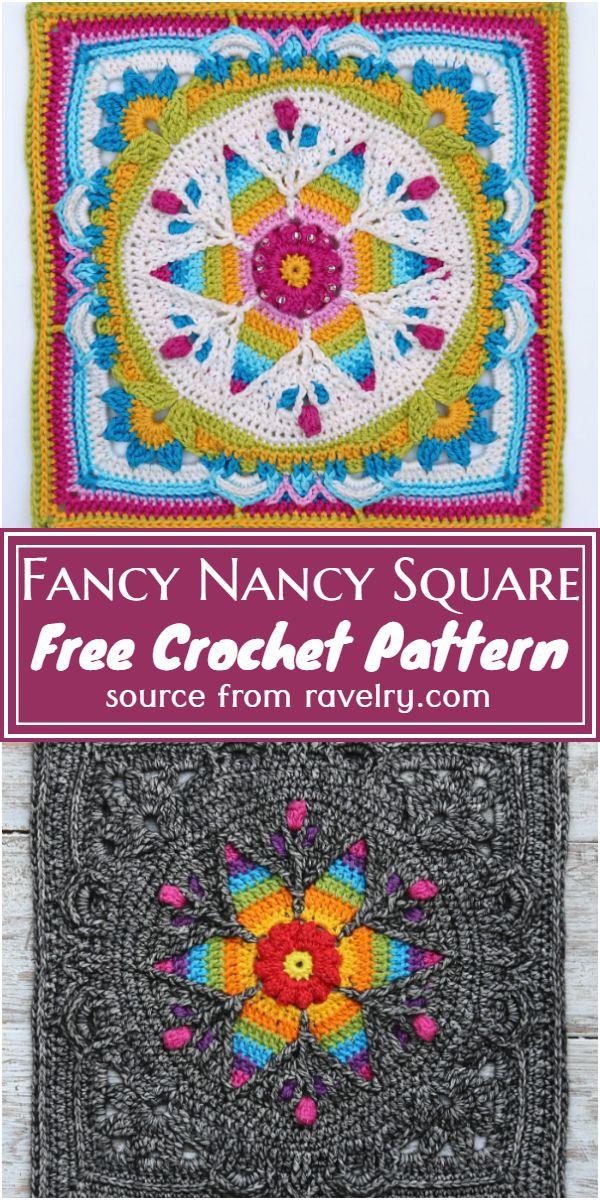 Free Crochet Fancy Nancy Square Pattern