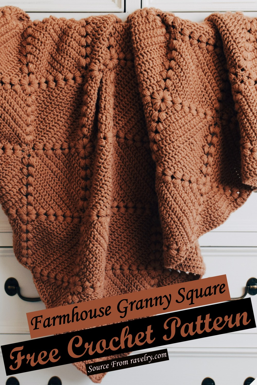 Free Crochet Farmhouse Granny Square Pattern