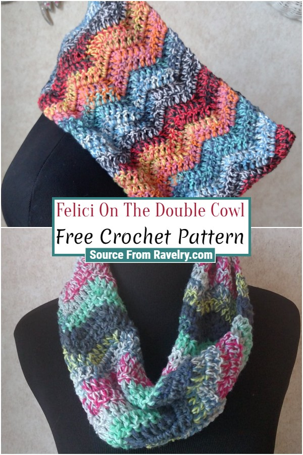 Free Crochet Felici On The Double Cowl