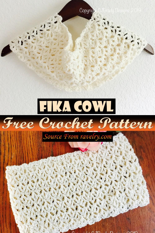 Free Crochet Fika Cowl Pattern