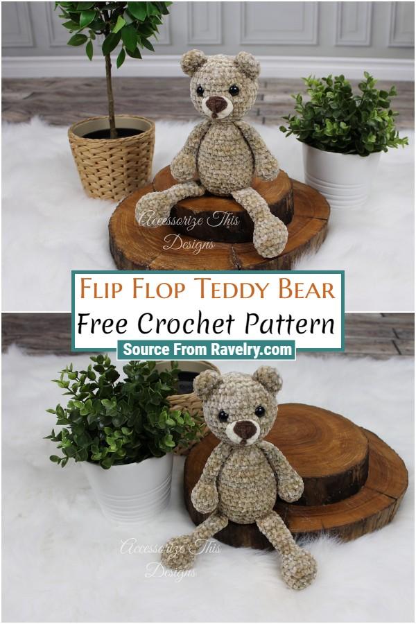 Free Crochet Flip Flop Teddy Bear