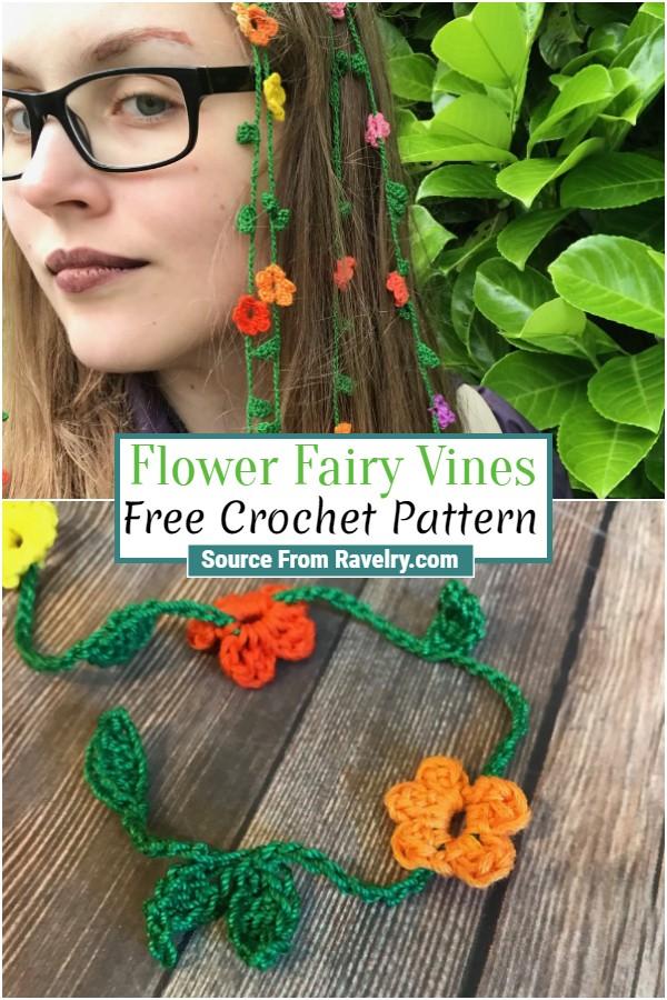 Free Crochet Flower Fairy Vines