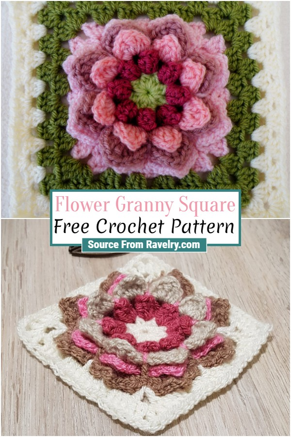 Free Crochet Flower Granny Square