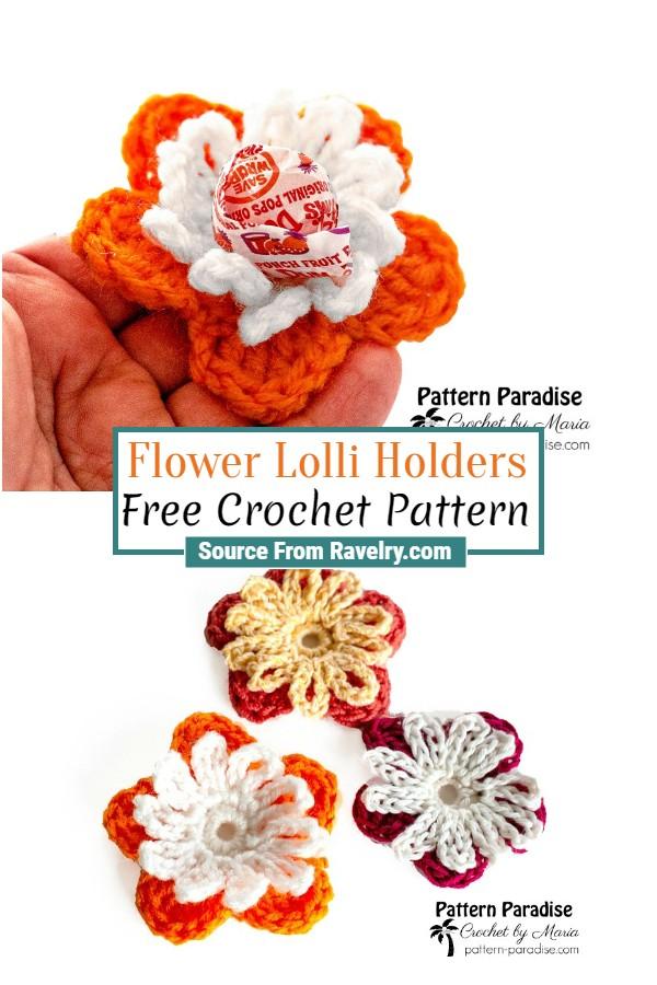 Free Crochet Flower Lolli Holders