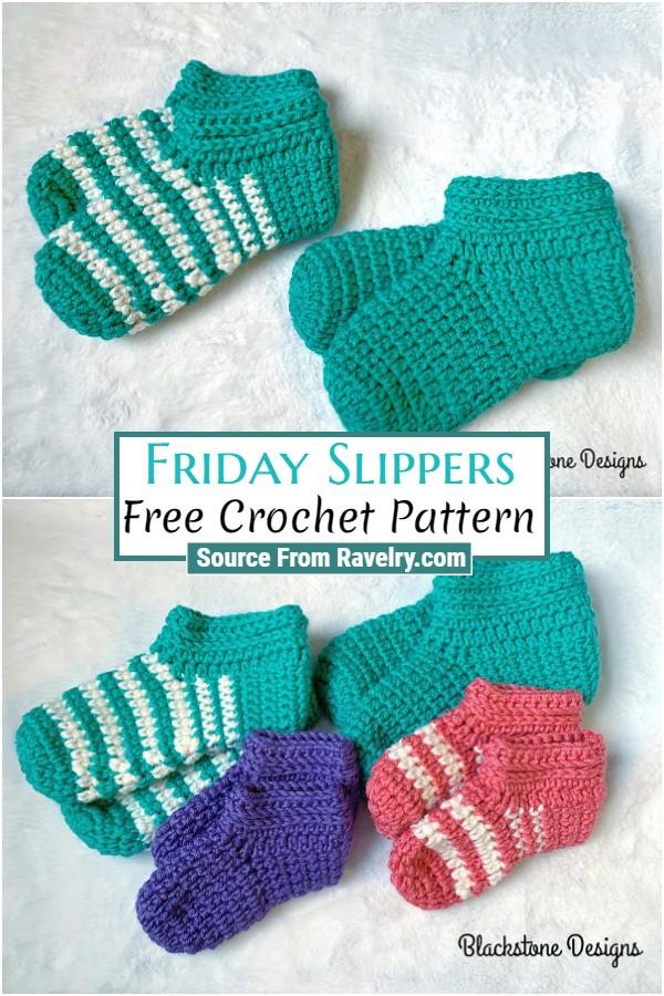 Free Crochet Friday Slippers