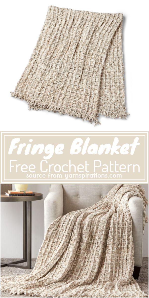 Free Fringe Blanket Pattern