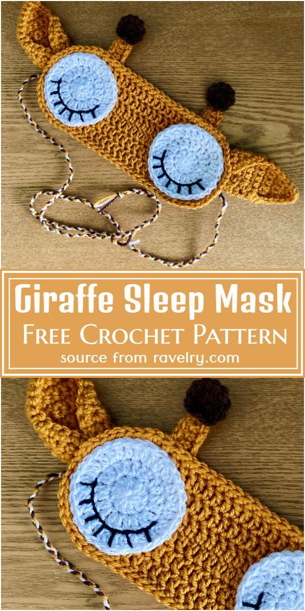 Free Crochet Giraffe Sleep Mask Pattern