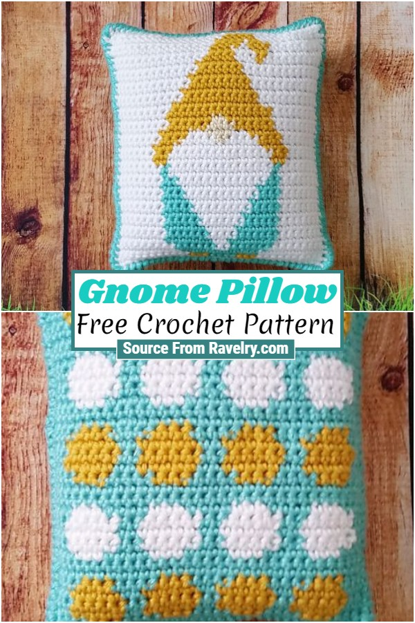 Free Crochet Gnome Pillow 1