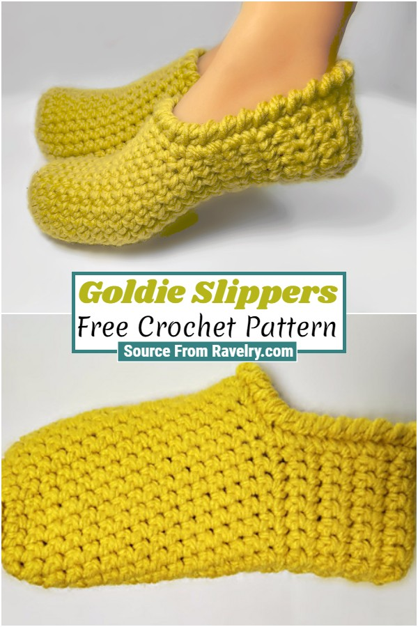 Free Crochet Goldie Slippers