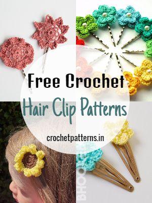 Free Crochet Hair Clip Patterns