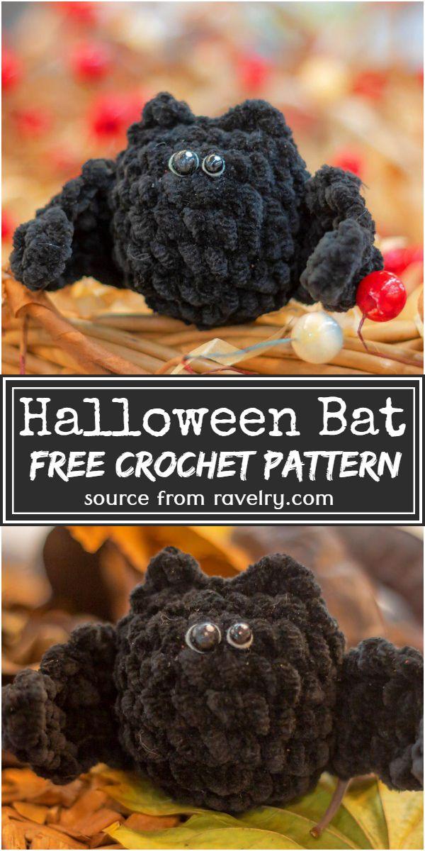 Free Crochet Halloween Bat Pattern