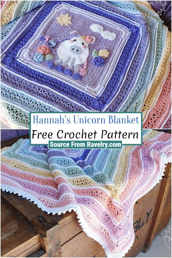 Free Crochet Hannah's Unicorn Blanket