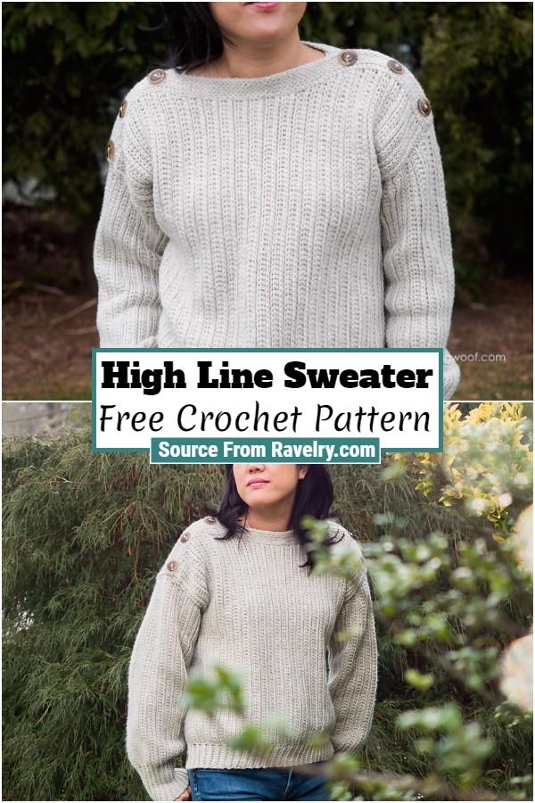 Free Crochet High Line Sweater