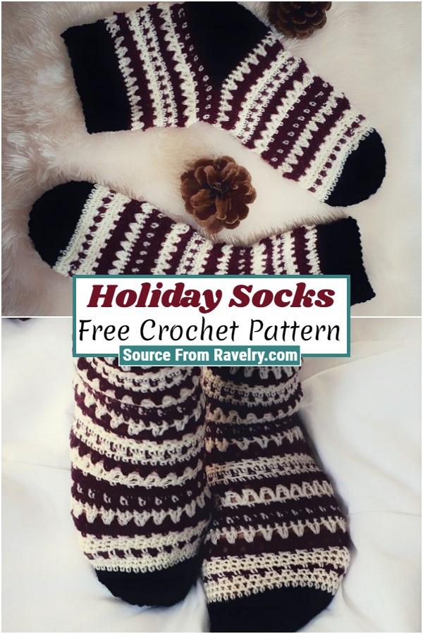 Free Crochet Holiday Socks
