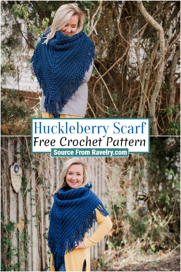 Free Crochet Huckleberry Scarf