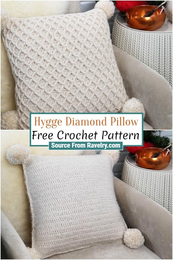 Free Crochet Hygge Diamond Pillow