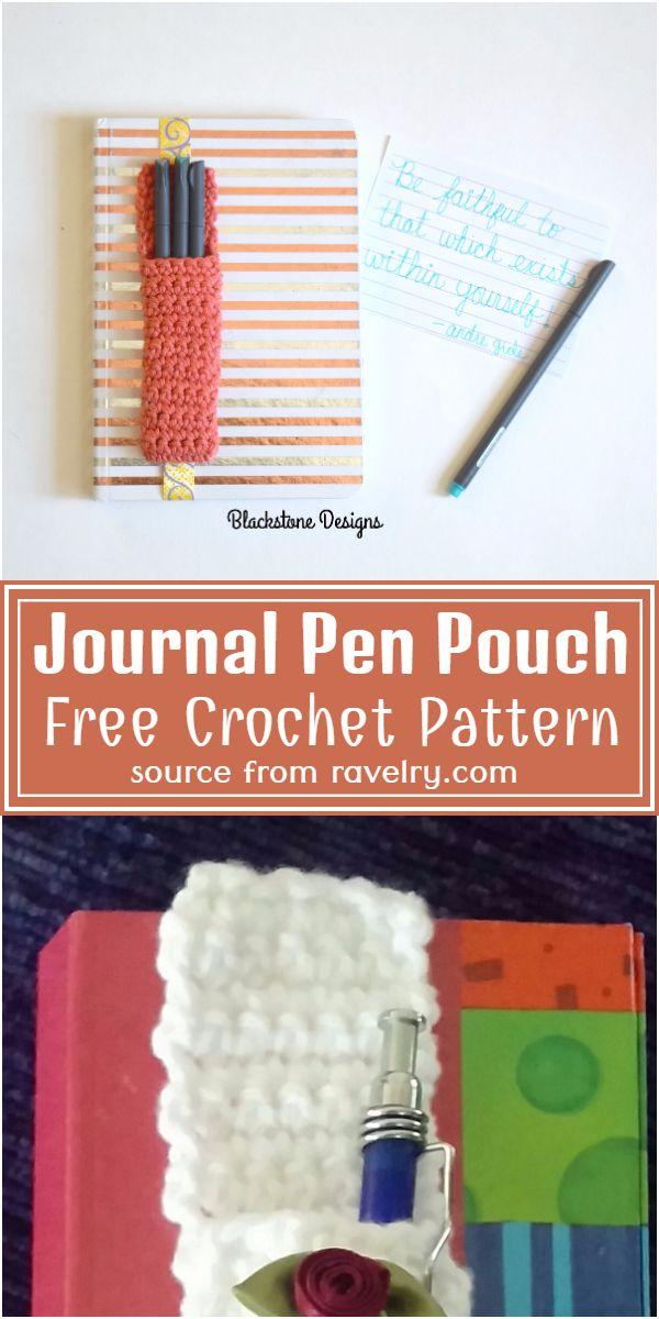 Free Crochet Journal Pen Pouch Pattern