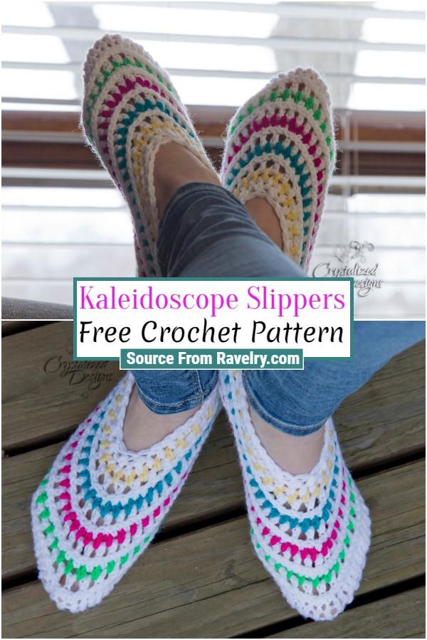 Free Crochet Kaleidoscope Slippers