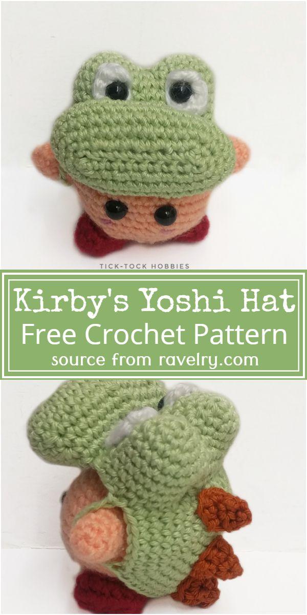 Free Crochet Kirby's Yoshi Hat Pattern
