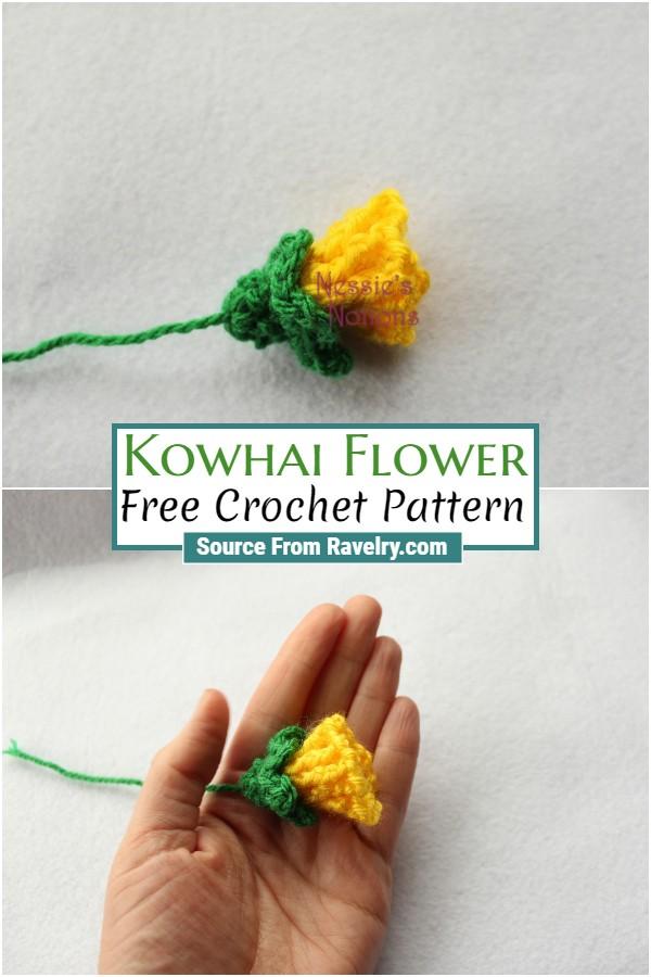 Free Crochet Kowhai Flower