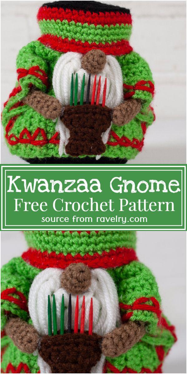 Free Crochet Kwanzaa Gnome Pattern