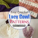 Easy And Quick Free Crochet Lacy Cowl Patterns
