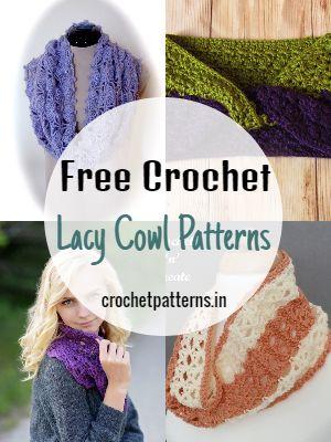Free Crochet Lacy Cowl Patterns