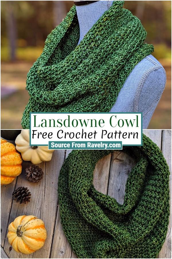 Free Crochet Lansdowne Cowl