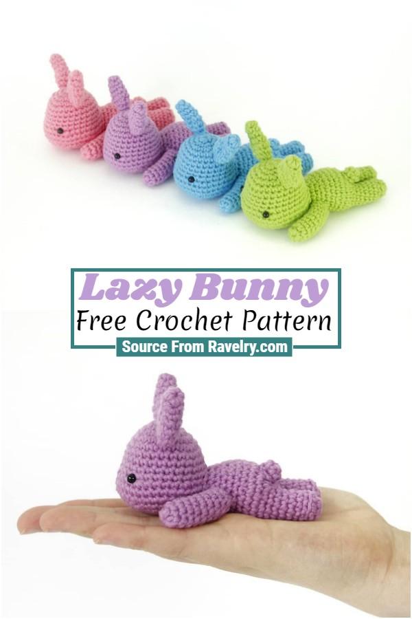 Free Crochet Lazy Bunny
