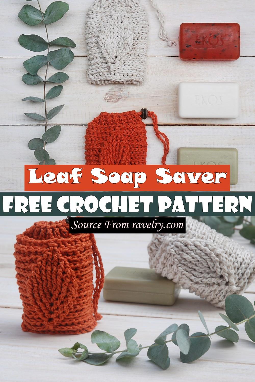 Free Crochet Leaf Soap Saver Pattern