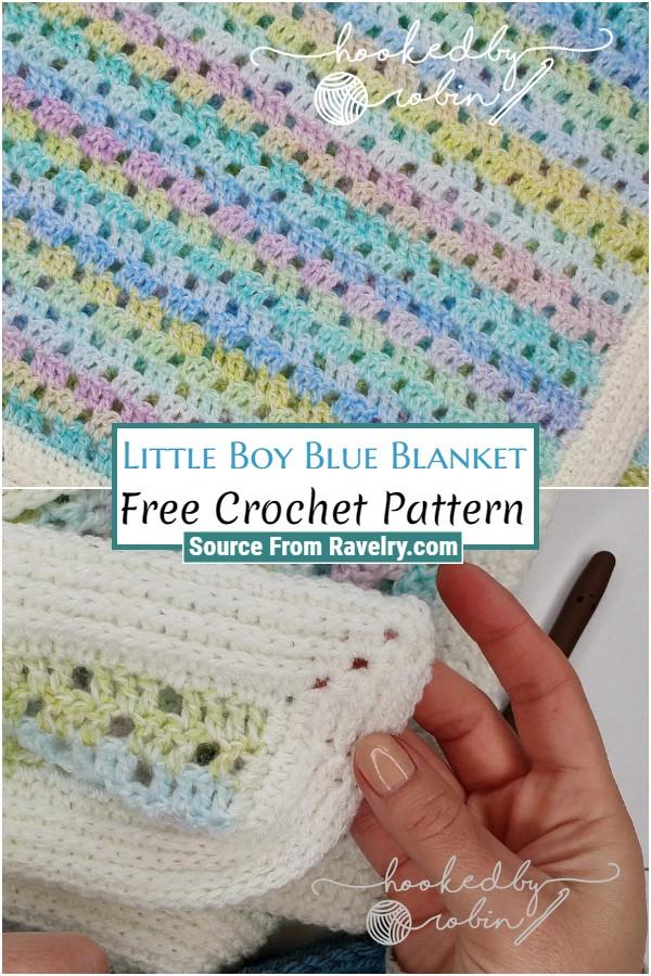 Free Crochet Little Boy Blue Blanket