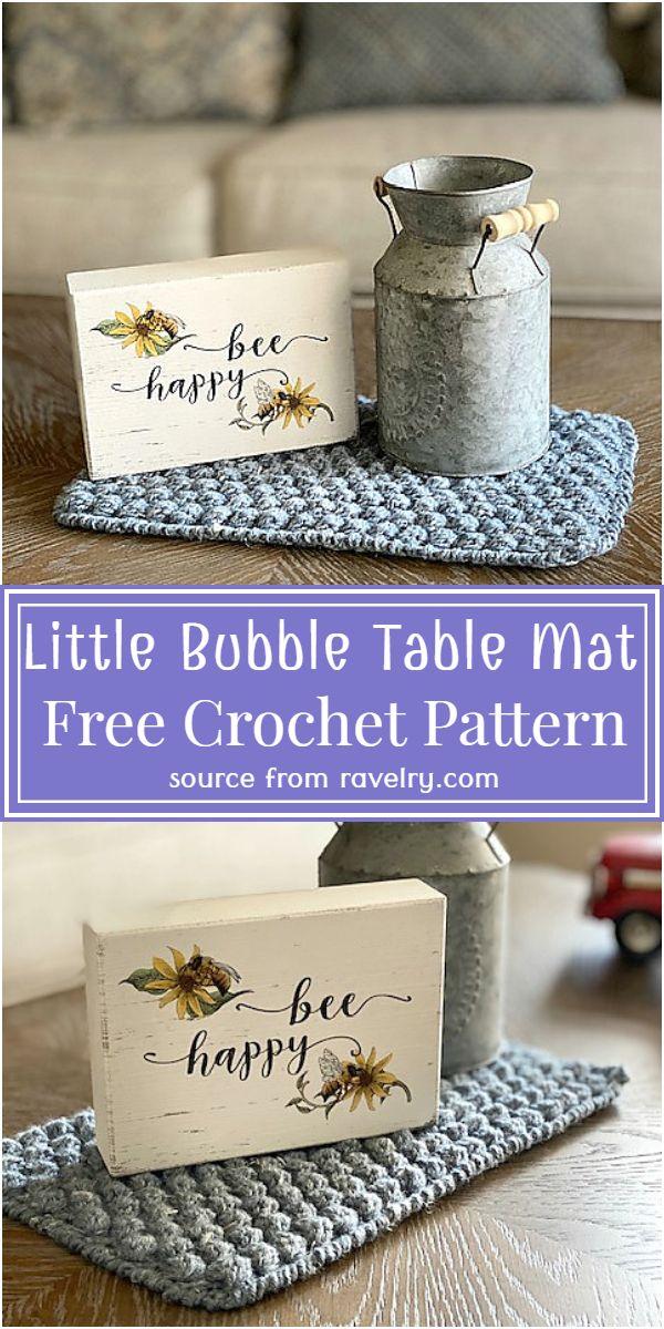 Free Crochet Little Bubble Table Mat Pattern