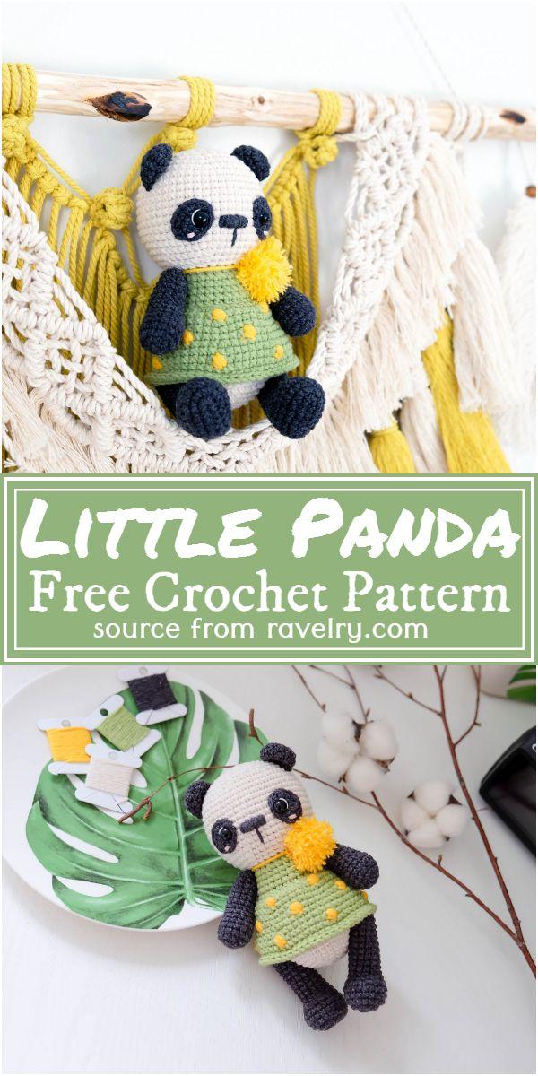 Free Crochet Little Panda Pattern